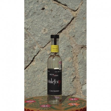 Mezcal con Gusano 40º destilado en Alambique de Cobre, 250 ml