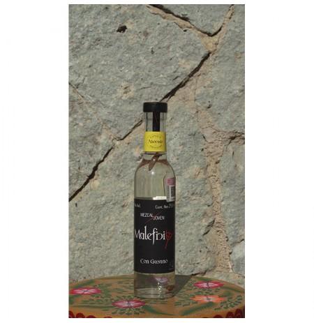 Mezcal con Gusano 48º destilado en Alambique de Cobre, 250 ml