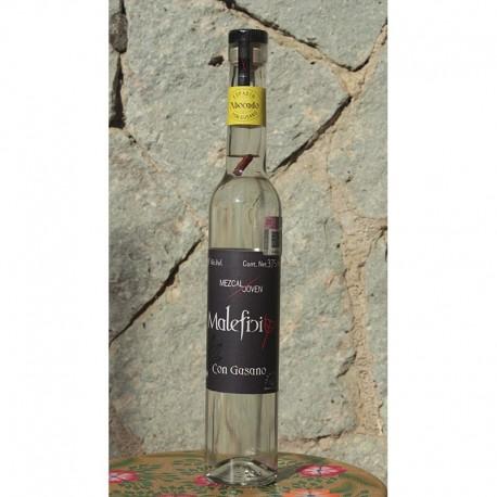 Mezcal con Gusano 40º destilado en Alambique de Cobre, 375 ml